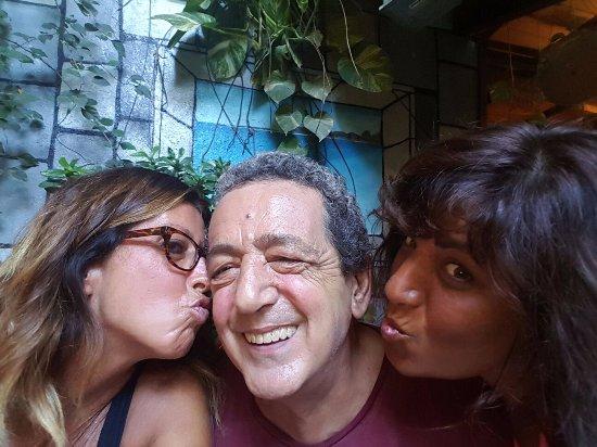 Posada Lagunita: Il mitico Enrico con Manuela ed Enza