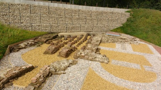 Wallsend, UK: The recently discovered foundations of the baths.