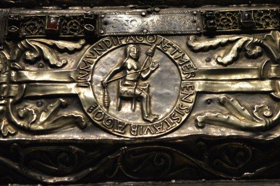 Saint-Maurice, Suíça: Détail de la grande châsse de saint Maurice