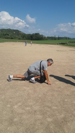 Antik Olympia (Archaia Olympia): op de eerste echte piste in Olympia!