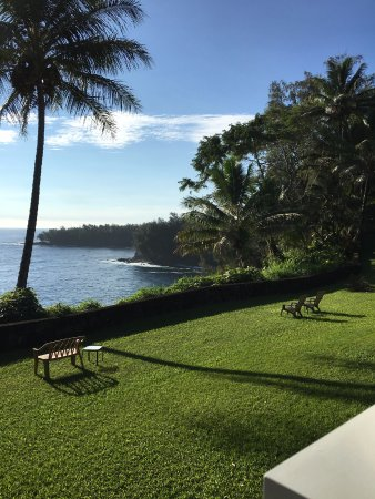 Honomu, HI: view from our room (Tropical Dreams)