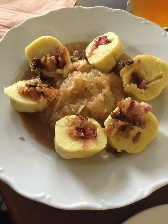Cheb, República Checa: Plněné bramborové knedliky