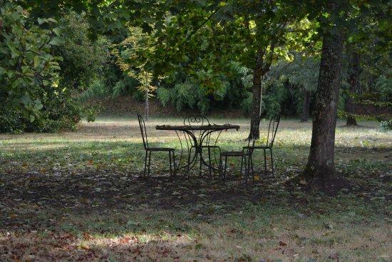 Fronsac, France : jardin