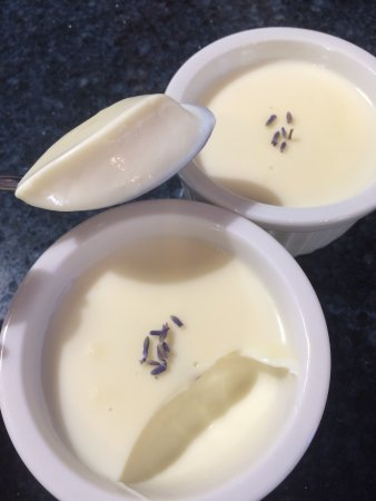 North Providence, RI: Honey Lavender Posset w/ honey from our bees!