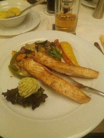 Waiblingen, Germany: grilled salmon