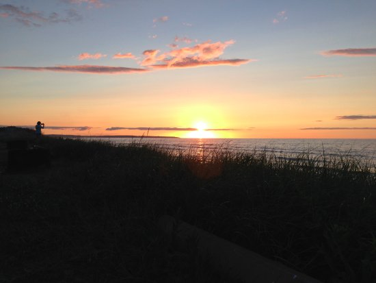 Sunset from our campsite Picture of Prince Edward Island National