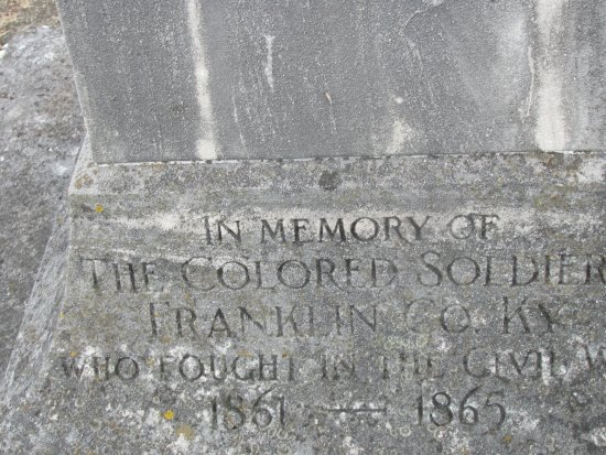 Frankfort, KY: Honor of the USCT buried at Greenhill