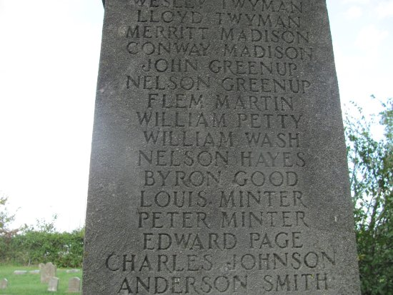 Frankfort, KY: Names of some of the USCT buried at Greenhill