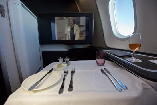 Table setting and entertainment screen. - Picture of British Airways ...