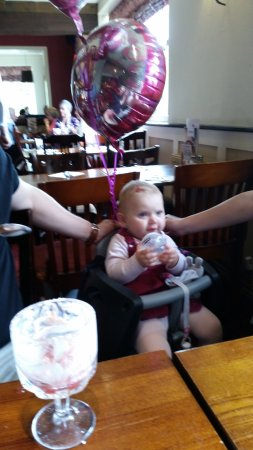 Woodford, UK: Birthday family meal for a 1 year old