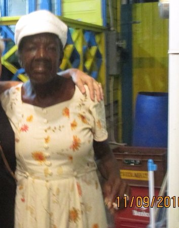 Holetown, Barbados: This lady still enjoys a boogie