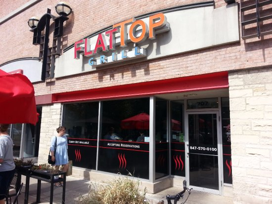 Entrance & patio to Flat Top Grill