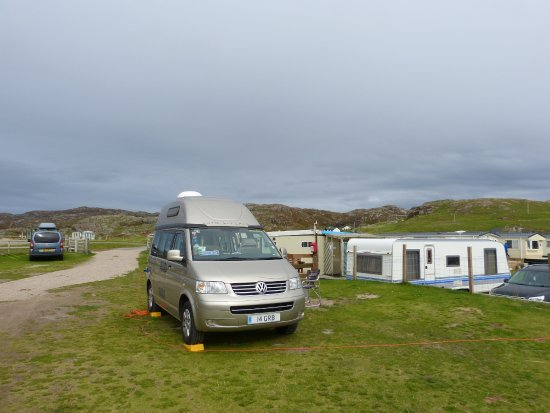 Clachtoll, UK: Nice pitch near reception