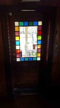 Micanopy, ฟลอริด้า: Beautiful staining glass front door