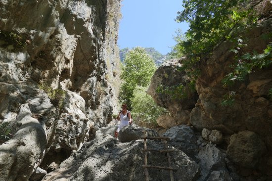 Sougia, Grecja: Zejścia po drabinach