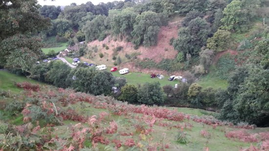 Church Stretton, UK: view from above on public footpath