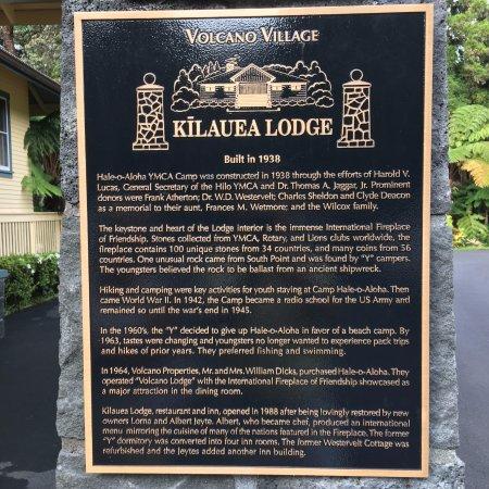 Kilauea Lodge: info about the lodge