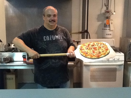 Westfield, NY: Leo at the Crispy Crust in building 1
