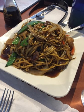 Randolph, ME: the large beef lo mein.