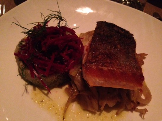 citrus brined salmon picture of bastille kitchen boston tripadvisor
