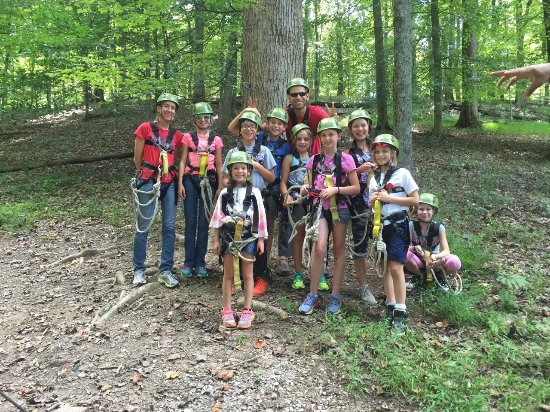 Explore Brown County at Valley Branch Retreat : most of our group, post zip