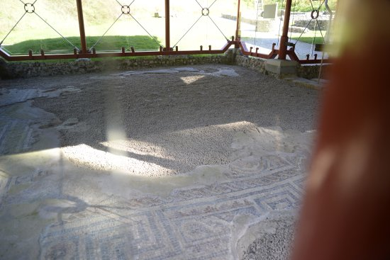 Romano-British House: Mosaic floor inside the house
