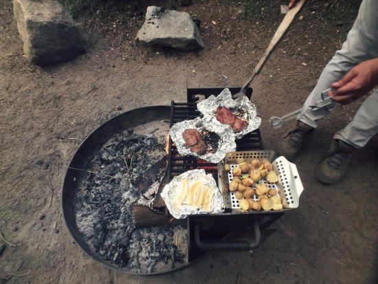 Dorst Campground: Dinner at Dorst