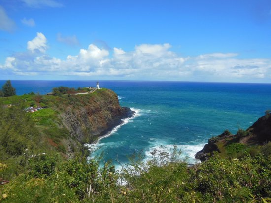 Kilauea, HI: the lighthouse and small bay