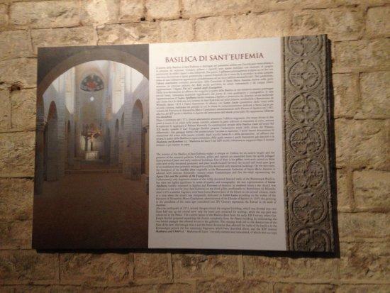 Museo Diocesano e Basilica di Sant'Eufemia : Didascalia