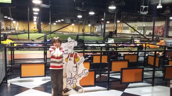 Pzazz Resort Hotel : He was getting ready to ride the go carts!!