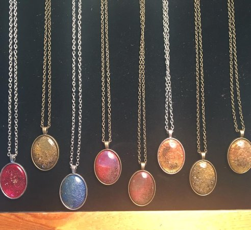 Solana Beach, Καλιφόρνια: Handcrafted Oval Pendants