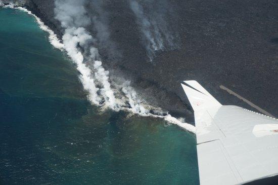 Ka'anapali, HI: Lava forming new land on coast of Big Island