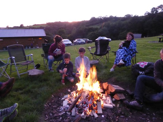 Knighton, UK: Fire pit