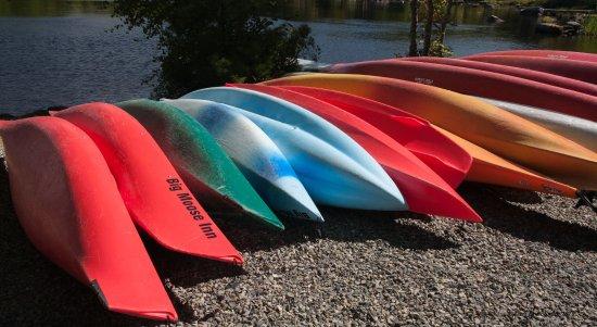 Millinocket, ME: Kayaks for rent at the Big Moose inn