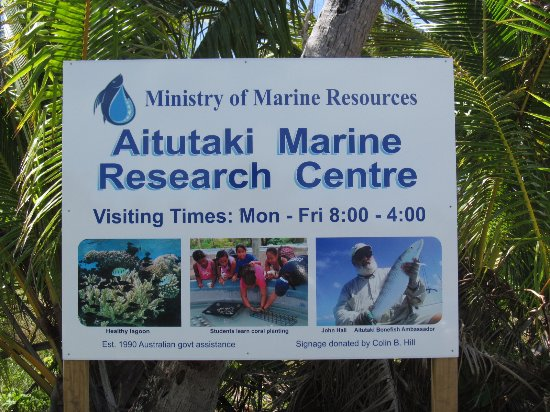 Inano Beach Bungalows: Papa Jon a Marine Research Center óriásplakátján