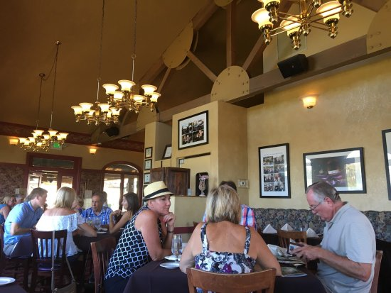 Cafe Champagne : Thornton Winery Resturaunt -Great burgers and Crispy fries. Sorry they were so good I ate them b
