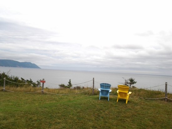 Dingwall, Canada: View from the edge of the property