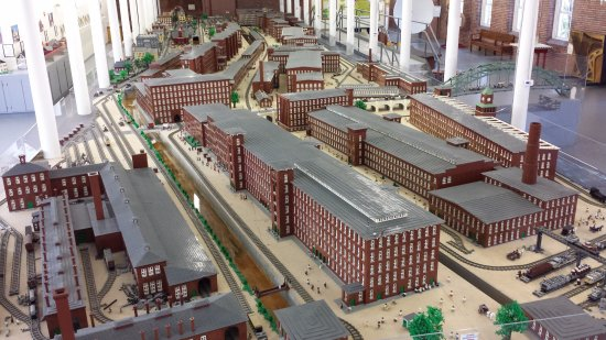 SEE Science Center: The LEGO display of the Manchester mills during the 1800's.