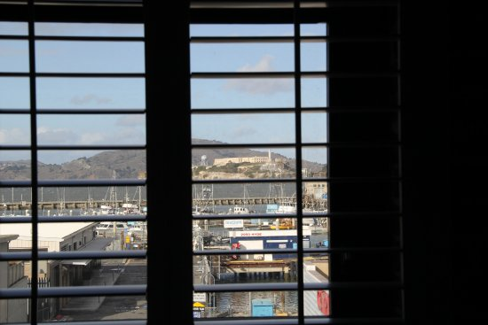View of the waterfront and Alcatraz from our hotel room.
