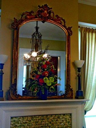 Coldwater, MI: Period mirror above fireplace
