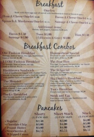 Seminole, Teksas: Breakfast Menu