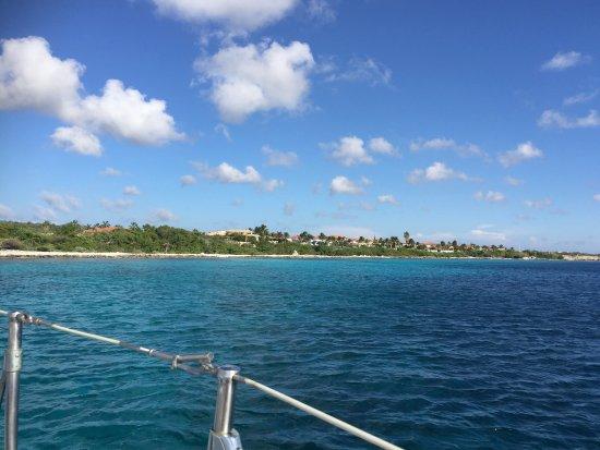 Kralendijk, Bonaire: Superleukemiddag gehad met Bas en Michiel op de boot.