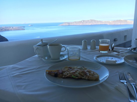 Santorini Princess: View from breakfast every morning