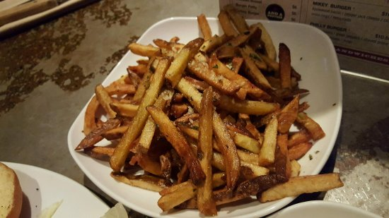 "Hudson, OH : ""Hand Cut Fries"" w/ Truffle Oil / Grana Pandana Cheese"