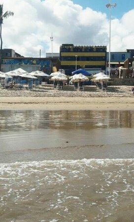 Hotel Planeta Itapua : Maravilhosa praia em frente ao Hotel Planeta Itapuã