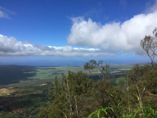 Lanai City, HI: From Mount Lana`ihale looking toward Lana`i City