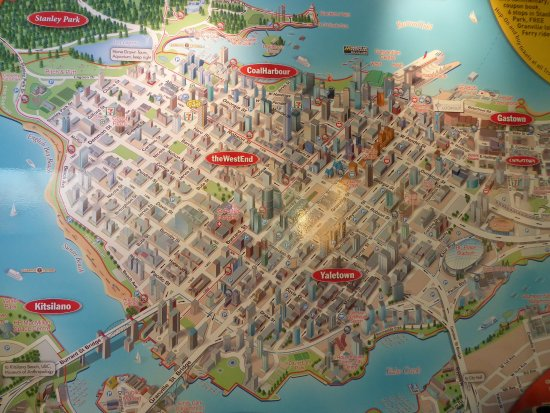 Map Of The City Picture Of Vancouver Lookout Vancouver