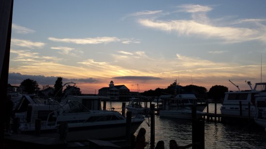 Solomons, MD: The view from the outdoor deck of Charles Street Brasserie
