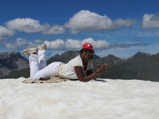 Davos Platz, สวิตเซอร์แลนด์: Up at 2590 mts