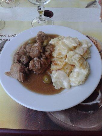 Ornolac-Ussat-les-Bains, Prancis: Canard-Gratin d'auphinois